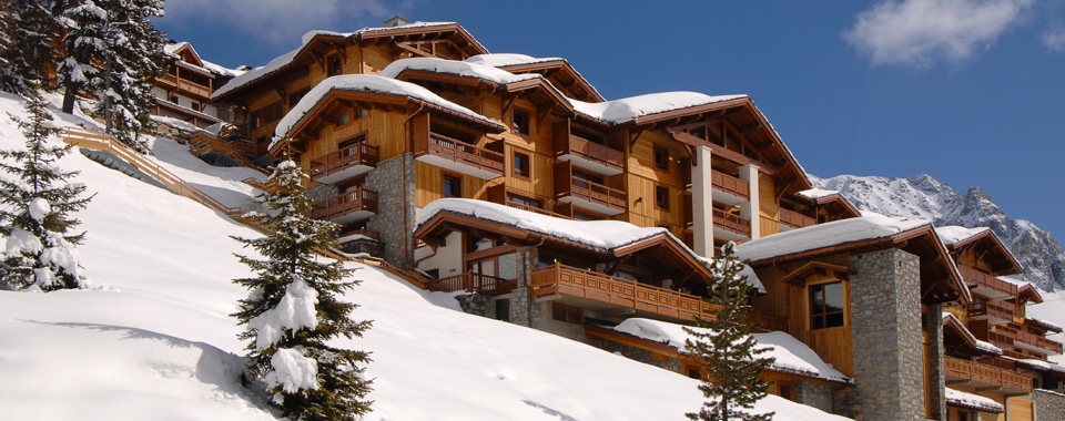 Ski hotel front view